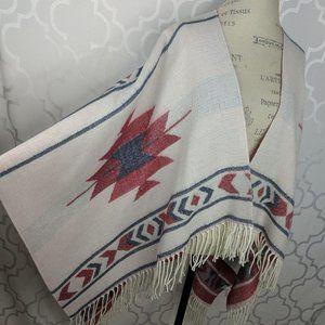 Nordstrom Native/Aztec Open Knit Poncho Cape
